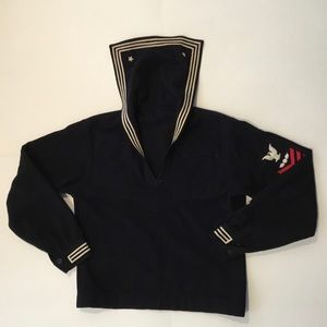 Vintage Navy US Military Wool Dress Blues Top
